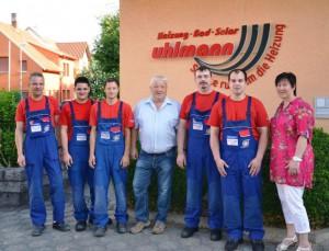 von links nach rechts: Herr Oliver Bläßer, Herr Lukas Uhlmann, Herr Michael Schulz, Herr Herbert Uhlmann, Herr Patrick Oelmann, Herr Daniel Boßhard,  Frau Marion Marthiensen